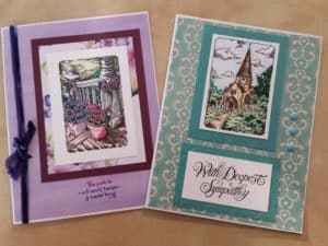 handmade cards  Notes in the mail
