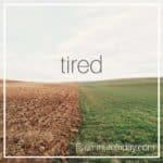 first sign of #fibro #fatigue #tired