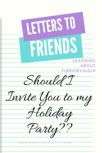 Should I invite your to me holiday party?