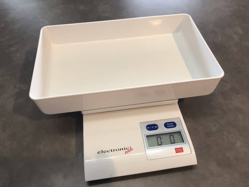 digital scale for measuring baking food items