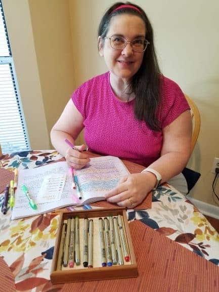 MAndy Farmer journaling with highlighter key