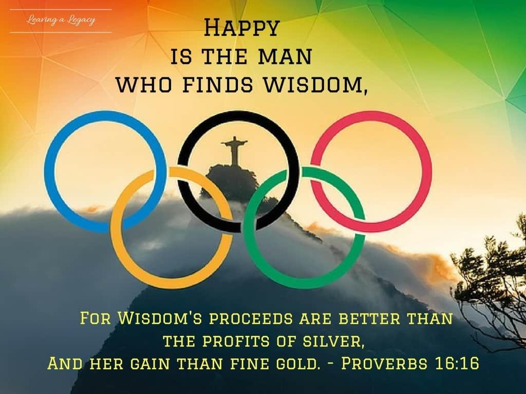 Olympics Proverbs 16:16