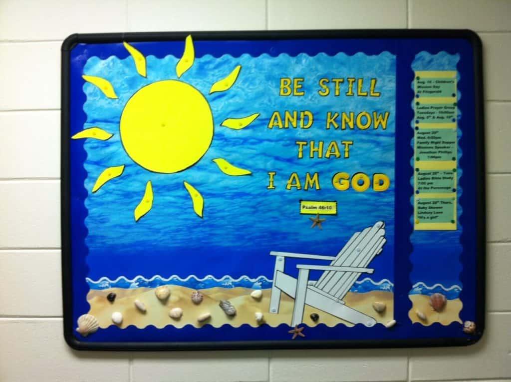 august Bulletin Board Summertime