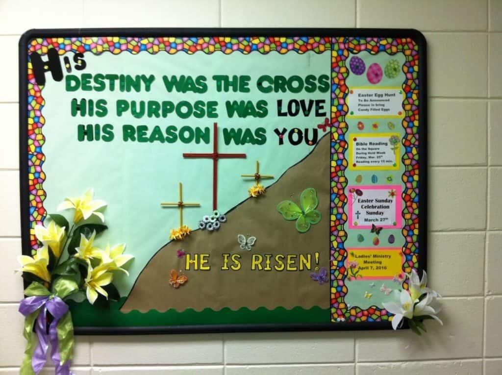 April Bulletin Board Easter