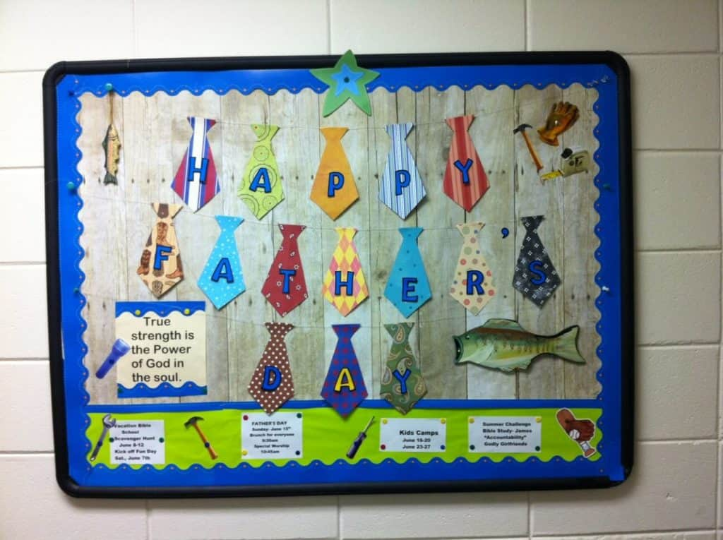 June bulletin board - Father's day