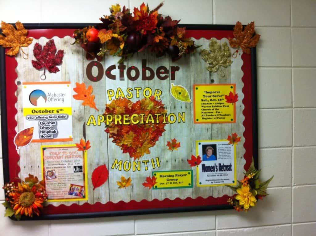 October Bulletin Board Pastor appreciation