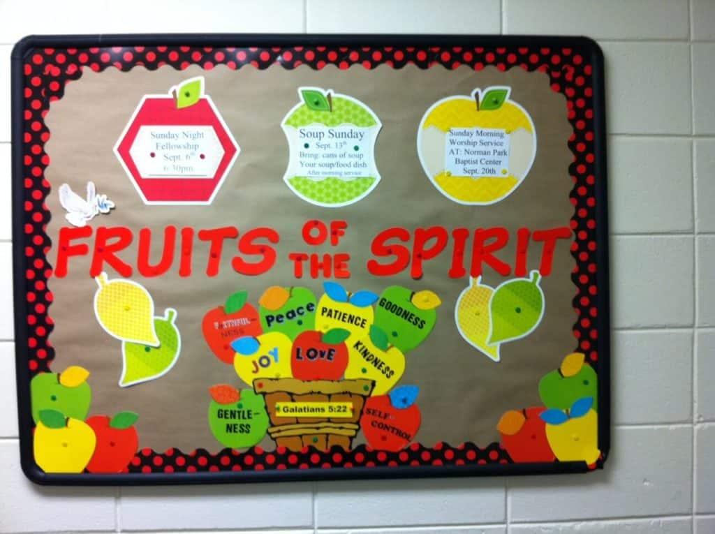 September Bulletin Board Fruits of the spirit