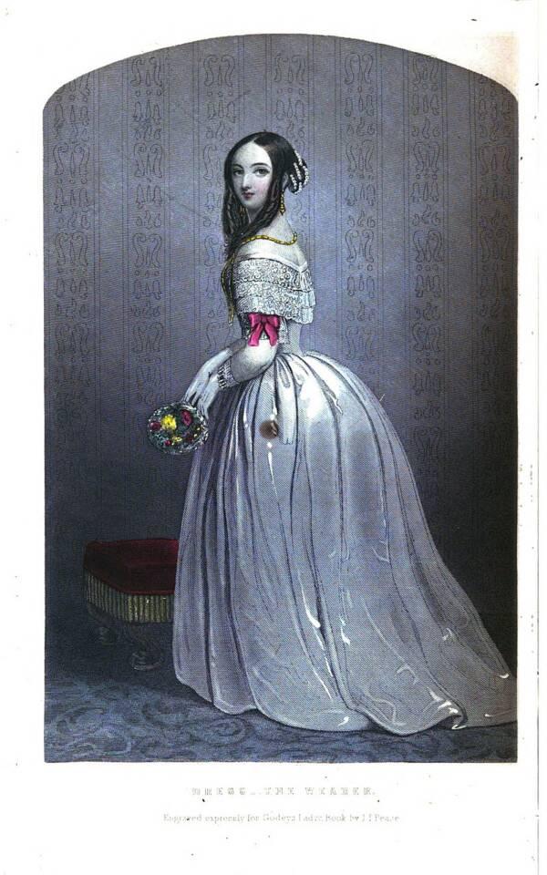 Dress 1851 fashion plate - Sarah Hale