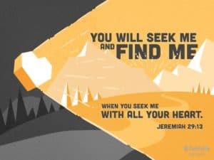 Jeremiah 29:13 missing piece